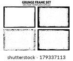 grunge frame set. vector... | Shutterstock .eps vector #179337113