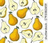 seamless pattern with pear....   Shutterstock .eps vector #1793382859