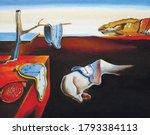 oil painting salvador dali copy | Shutterstock .eps vector #1793384113