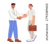 two businessman settle contract ...   Shutterstock .eps vector #1793389603