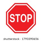 stop sign   symbol isolated... | Shutterstock .eps vector #1793390656