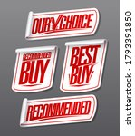 recommended  our choice  best... | Shutterstock .eps vector #1793391850