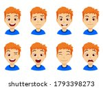 cute kid boy with different...   Shutterstock .eps vector #1793398273