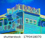 Bright Colorful Abstract Of...