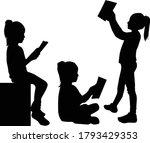 silhouette of children on white ...   Shutterstock .eps vector #1793429353