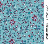 seamless floral pattern | Shutterstock .eps vector #179343614