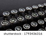 Closeup Of The Qwerty Keys Of A ...