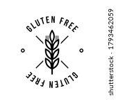 gluten free seals. black and...   Shutterstock .eps vector #1793462059