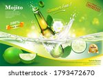 mojito beverages bottle ice... | Shutterstock .eps vector #1793472670