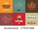 set of vintage retro bakery... | Shutterstock .eps vector #179347388