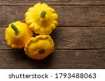 Yellow Pattypan Squash On The...