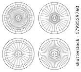 Set Of Circular Pattern...