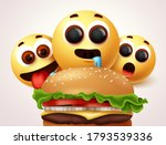 emoji hungry of burger... | Shutterstock .eps vector #1793539336
