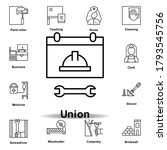 union outline icon. set of...