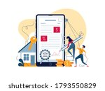 mortgage online concept.... | Shutterstock .eps vector #1793550829