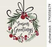 beautiful christmas decoration... | Shutterstock .eps vector #1793558179