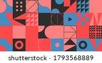 abstract geometric vector... | Shutterstock .eps vector #1793568889
