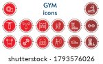 editable 14 gym icons for web... | Shutterstock .eps vector #1793576026