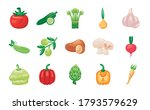 bundle of vegetables set icons... | Shutterstock .eps vector #1793579629