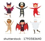 set of kids in halloween... | Shutterstock .eps vector #1793583640