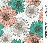 flower retro seamless pattern | Shutterstock .eps vector #179358944