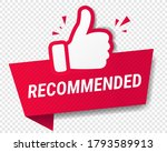 red banner recommended with... | Shutterstock .eps vector #1793589913