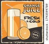 orange fruit juice signage... | Shutterstock .eps vector #1793599789