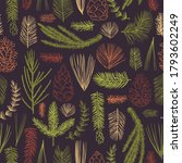vector  seamless pattern with... | Shutterstock .eps vector #1793602249