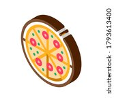 pizza italy meal icon vector.... | Shutterstock .eps vector #1793613400