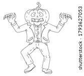 halloween. vector illustration  ... | Shutterstock .eps vector #1793627053