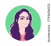 avatar of a beautiful girl in a ... | Shutterstock . vector #1793636023