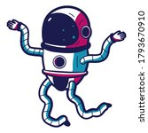 space sticker with cute...   Shutterstock .eps vector #1793670910