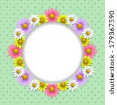 floral background with daisy on ... | Shutterstock .eps vector #179367590