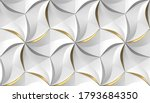 White Hexagons Stylized In The...
