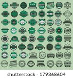 64 racing badges   vintage... | Shutterstock .eps vector #179368604