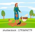Young Woman Or Girl Farmer In...