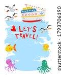 Sea Travel. Marine Cruise....