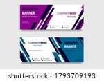 set of horizontal banners with... | Shutterstock .eps vector #1793709193