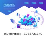 robotic process automation...   Shutterstock .eps vector #1793721340