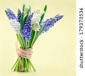 Bouquet Of Blue And White Grap...