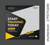 gym   fitness social media post ... | Shutterstock .eps vector #1793751640
