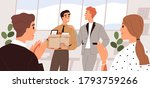 people welcome new team member... | Shutterstock .eps vector #1793759266