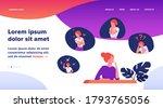 woman expressing strong various ... | Shutterstock .eps vector #1793765056