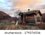 Old Cabin In With Siberian...