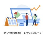 young tiny analysts preparing...   Shutterstock .eps vector #1793765743