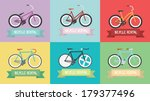 vintage bike   fixed gear  ... | Shutterstock .eps vector #179377496