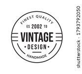 vintage badge  label or logo....   Shutterstock .eps vector #1793792050