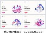 isometric cloud data storage... | Shutterstock .eps vector #1793826376
