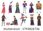 medieval people vector... | Shutterstock .eps vector #1793826736