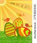 easter eggs | Shutterstock .eps vector #179383340